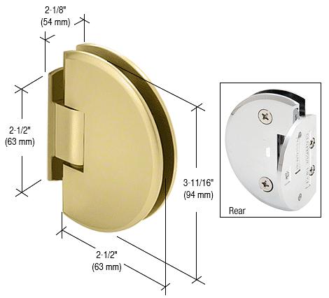 CRL Satin Brass Classique 044 Series Wall Mount Flush Back Plate Hinge CRL CLA044SB