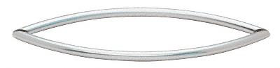 "CRL Satin Chrome 18"" Crescent Style Back-to-Back Towel Bars CRL CSH18X18SC"
