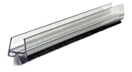 Clear Polycarbonate Wipe With Pile Weatherstrip 98 inch - CRL CW12