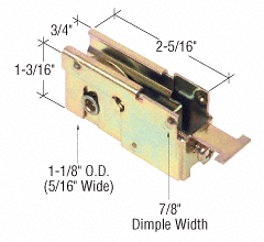 "CRL 1-1/8"" Steel Sliding Glass Door Roller with 23/32"" Wide Housing Bulk (10) Pack CRL D1523B"