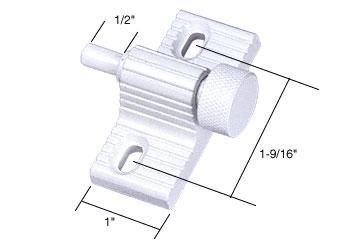 White Twist-In Door Lock - CRL U9850