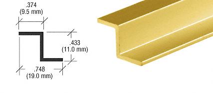 CRL Gold Anodized Z-Bar Aluminum Channel CRL D1626GA