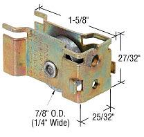 """CRL 7/8"""" Flat Steel Sliding Glass Door Roller with 25/32"""" Wide Housing CRL D1963"""