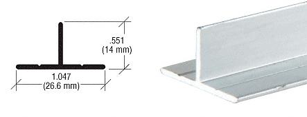 CRL Brite Anodized T- Bar Aluminum Channel CRL D608BA