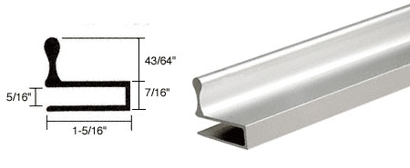 Brite Anodized Glass Door Edge Pull Extrusion - CRL D644BA_CS