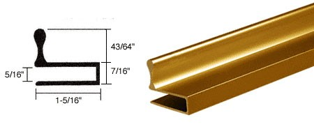 Duranodic Bronze Glass Door Edge Pull Extrusion - CRL D644DU_CS