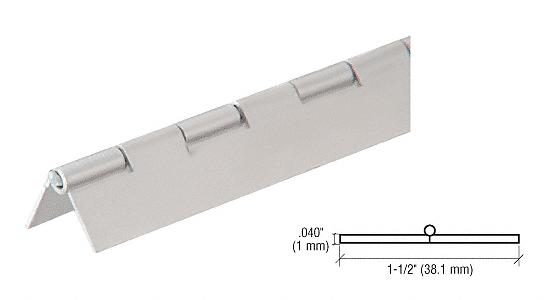 "CRL Satin Anodized 3/4"" Aluminum Piano Hinge - 6' CRL 6D665A"