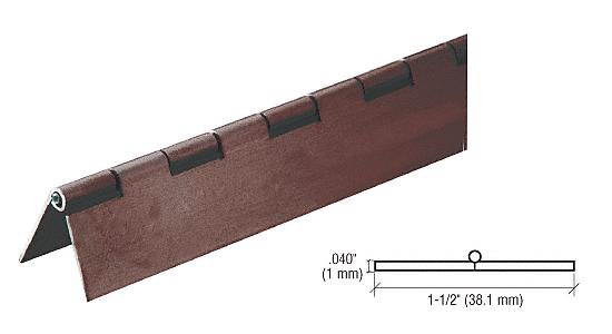 "CRL Dark Bronze 3/4"" Aluminum Piano Hinge - 6' CRL 6D665DU"