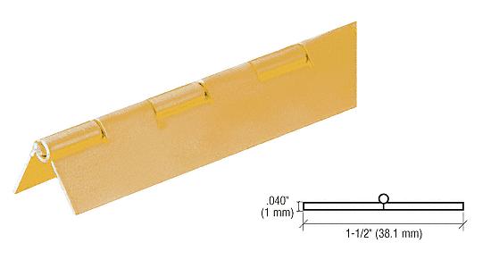 "CRL 6' Gold Anodized 3/4"" Aluminum Piano Hinge CRL 6D665GA"