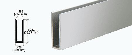 "CRL Brite Anodized 1/4"" Aluminum U-Channel CRL D673BA"