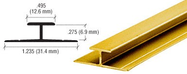 Gold Anodized Aluminum Divider Bar - CRL D901GA_CS