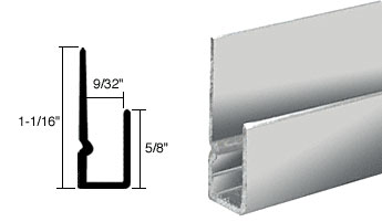 Buffed Bright Anodized 1/4 inch Deep Nose Indented J Channel - CRL D932BA_CS
