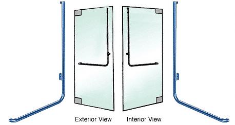 "CRL-Blumcraft® Custom Painted Right Hand Reverse Glass Mount ""D"" Exterior Top Securing Dummy Handle CRL DH100D4GPT"