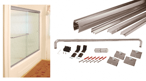 "CRL Brushed Nickel 72"" x 60"" Cottage DK Series Sliding Shower Door Kit With Metal Jambs for 1/4"" Glass CRL DK147260BN"