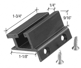 "CRL 1/4"" Bottom Guide for CK/DK for Cottage Series Sliders CRL DK6914"