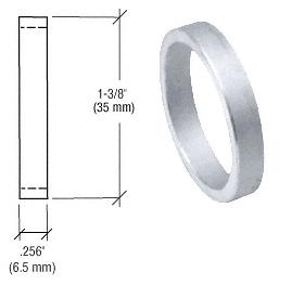 "CRL Aluminum .256"" Straight Cylinder Ring CRL DL2176AC"