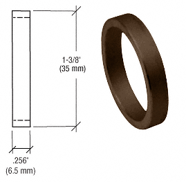 "CRL Dark Bronze .256"" Straight Cylinder Ring CRL DL2176DUC"