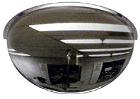 18 inch Diameter 180 Degrees Acrylic Half Dome Mirror - CRL DMH18