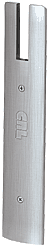 """CRL Brushed Stainless End Cap for 10"""" Square 1/2"""" Glass Wedge-Lock® Door Rail CRL DREC10SBS"""