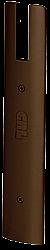 "CRL Black Bronze Anodized End Cap for 10"" Square 1/2"" Glass Wedge-Lock® Door Rail CRL DREC10SDU"
