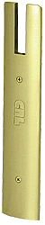 "CRL Polished Brass End Cap for 10"" Square 1/2"" Glass Wedge-Lock® Door Rail CRL DREC10SPB"