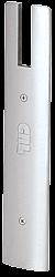 "CRL Satin Anodized End Cap for 10"" Square 1/2"" Glass Wedge-Lock® Door Rail CRL DREC10SSA"