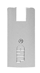 "CRL Brushed Stainless End Cap for 4"" Square Wedge-Lock® Door Rail CRL DREC4SBS"