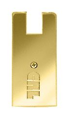 "CRL Polished Brass End Cap for 4"" Square Wedge-Lock® Door Rail CRL DREC4SPB"