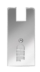 "CRL Polished Stainless End Cap for 4"" Square Wedge-Lock® Door Rail CRL DREC4SPS"