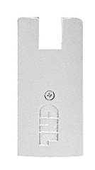 "CRL Satin Anodized End Cap for 4"" Square Wedge-Lock® Door Rail CRL DREC4SSA"