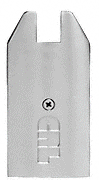"""CRL Brushed Stainless End Cap for 4"""" Tapered 1/2"""" Glass Wedge-Lock® Door Rail CRL DREC4TBS"""