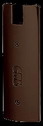 "CRL Black Bronze Anodized End Cap for 6"" Square 1/2"" Glass Wedge-Lock® Door Rail CRL DREC6SDU"