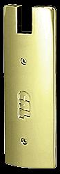 "CRL Polished Brass End Cap for 6"" Square 1/2"" Glass Wedge-Lock® Door Rail CRL DREC6SPB"