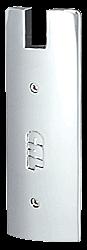 "CRL Satin Anodized End Cap for 6"" Square 1/2"" Glass Wedge-Lock® Door Rail CRL DREC6SSA"