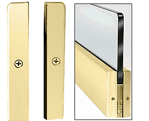 """CRL Polished Brass 4"""" Split Square End Cap CRL DRSEC4SPB"""