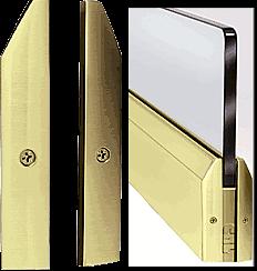 "CRL Polished Brass 4"" Split Tapered End Cap CRL DRSEC4TPB"