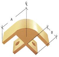 "CRL Gold 2-Way 90 Degree Standard Connector for 3/8"" Glass CRL E238GA"