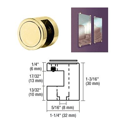 """CRL Brass Edge Grip for 1/2"""" Material CRL EG12BR"""