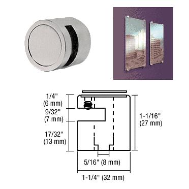 """CRL Brushed Stainless Edge Grip for 1/4"""" Material CRL EG14BS"""