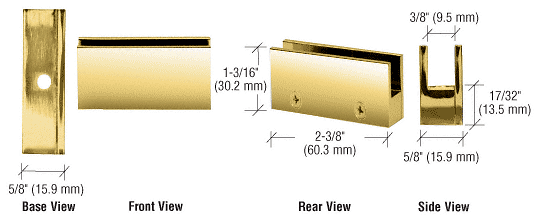 """CRL Brass Face Plate Clamp for 1/4"""" to 5/16"""" Glass CRL EH11"""