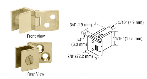 CRL Brass Small Wall Mount Hinges CRL EH178