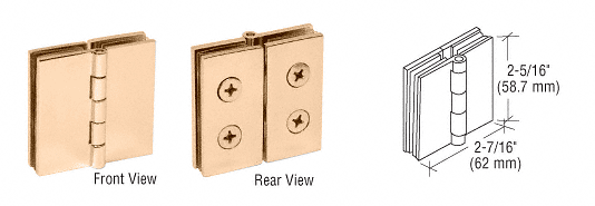 CRL Brass 180 Degree Glass-to-Glass Hinge CRL EH240
