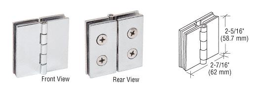 CRL Chrome 180 Degree Glass-to-Glass Hinge CRL EH242