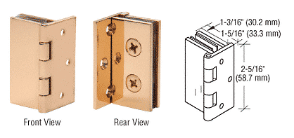 CRL Brass Double Wall-to-Glass Hinges CRL EH244