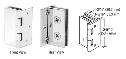 CRL Chrome Double Wall-to-Glass Hinges CRL EH246