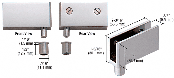 CRL Chrome Wide Glass Door Pivot Hinge CRL EH324