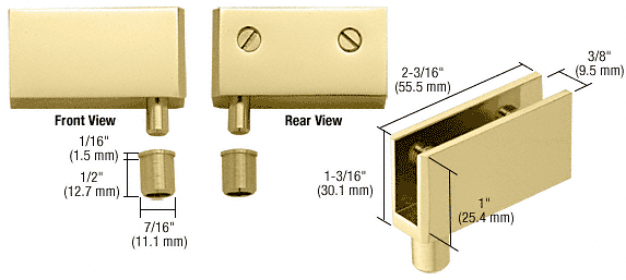 CRL Brass Wide Glass Door Pivot Hinge CRL EH326