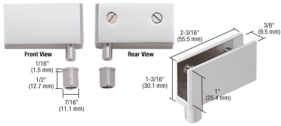 CRL Satin Chrome Wide Glass Door Pivot Hinge CRL EH328