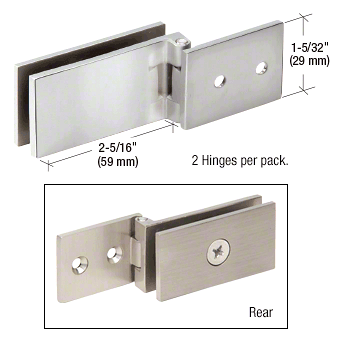 CRL Polished Chrome Light Duty Frameless Shower Door Hinge - Square Corner Style CRL EH84