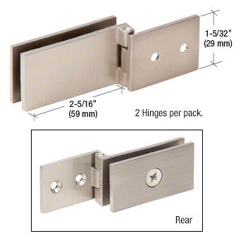 CRL Brushed Nickel Light Duty Frameless Shower Door Hinge - Square Corner Style CRL EH85